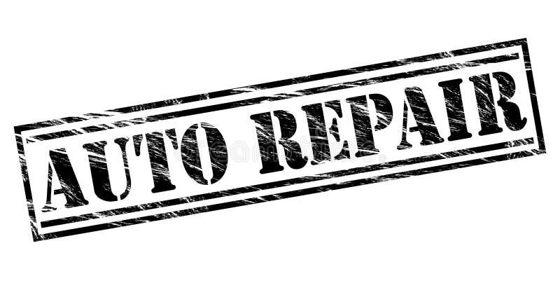 Selo do preto das reparações de automóveis ilustração do vetor