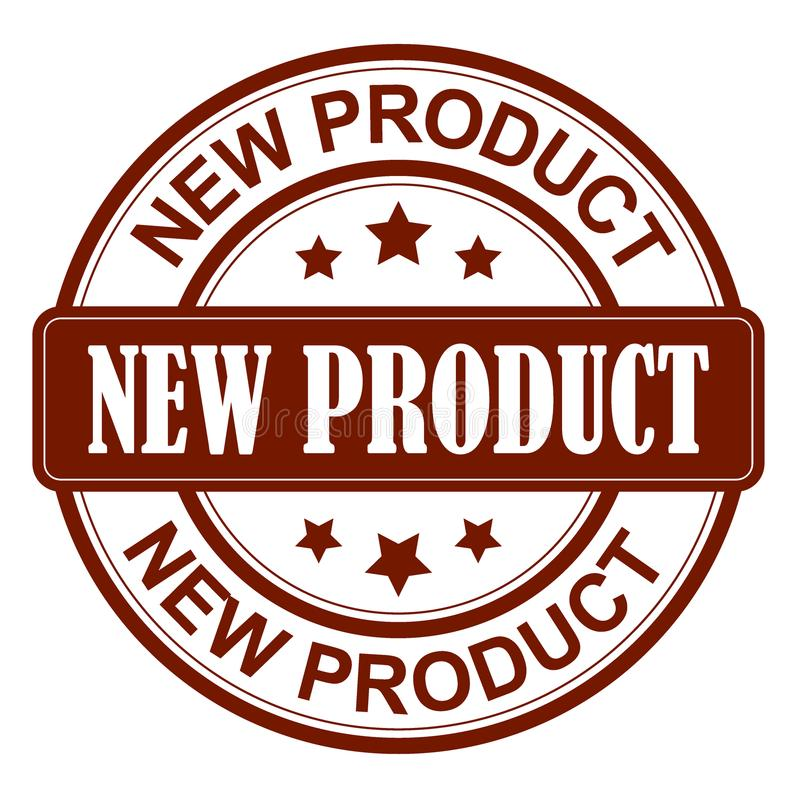 Selo do produto novo ilustração stock