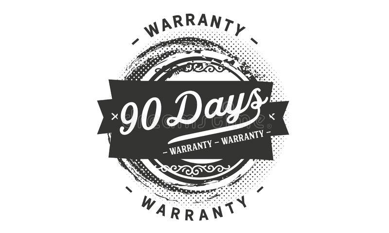 selo do projeto da garantia de 90 dias ilustração stock