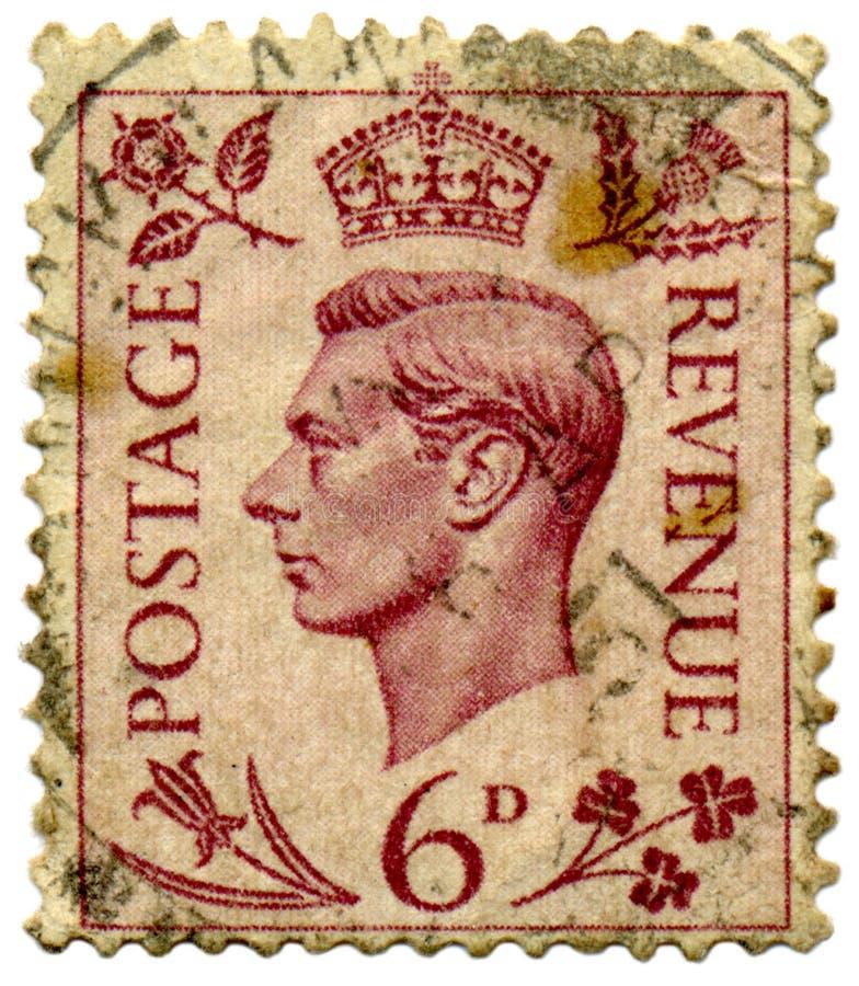 Selo do rei George VI. imagem de stock