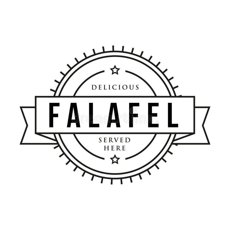 Selo do sinal do vintage do Falafel ilustração royalty free