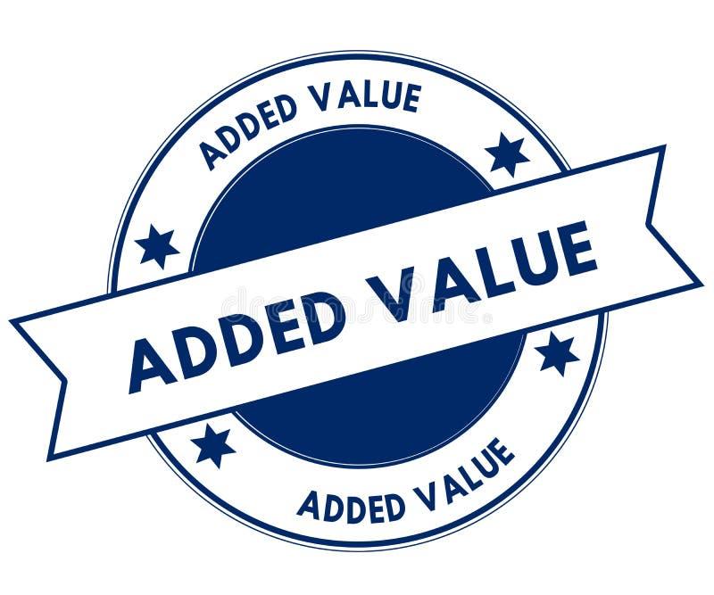 Selo do VALOR ADICIONADO do azul ilustração stock