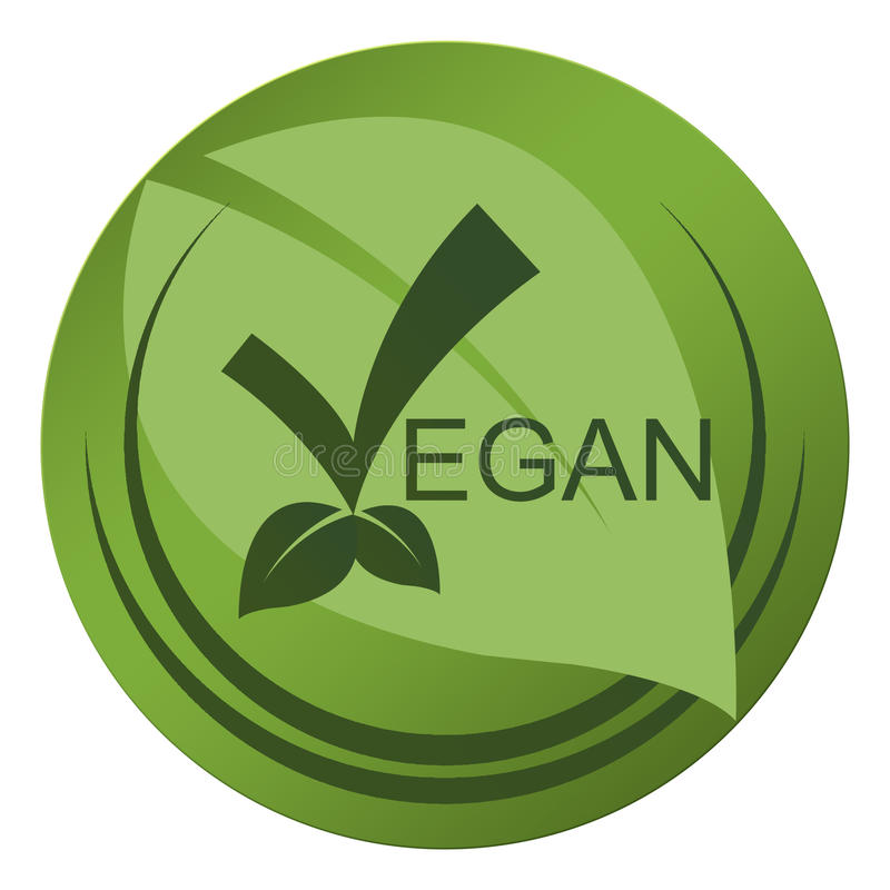 Selo do vegetariano ilustração do vetor