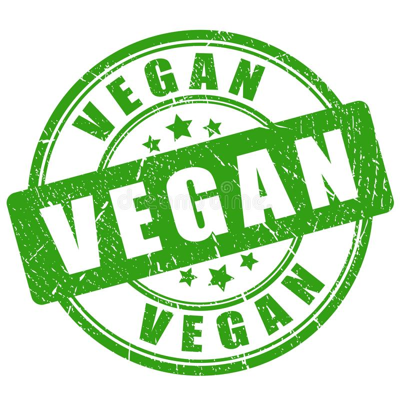 Selo do vegetariano ilustração royalty free