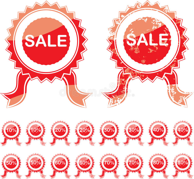 Selo do vermelho da venda ilustração royalty free