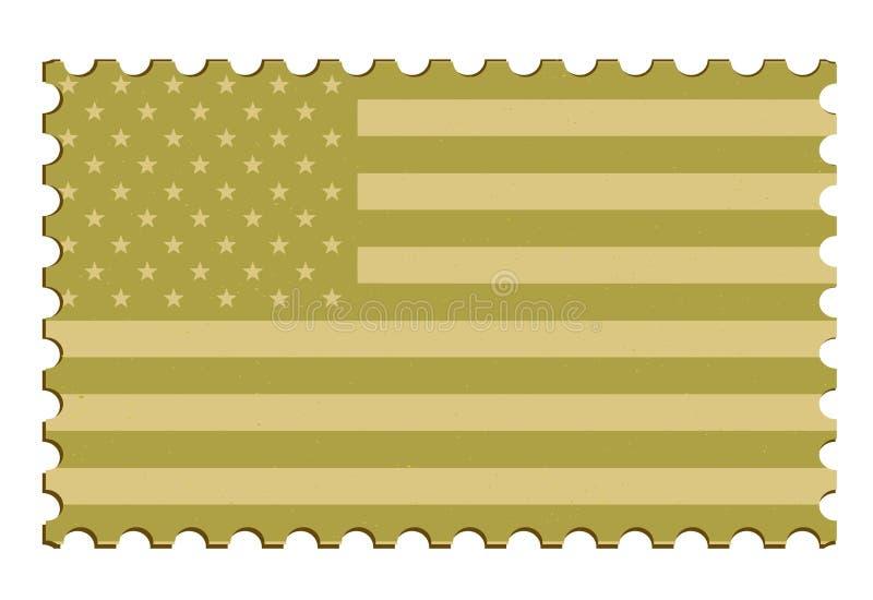 Selo do vetor da bandeira dos E.U. ilustração do vetor