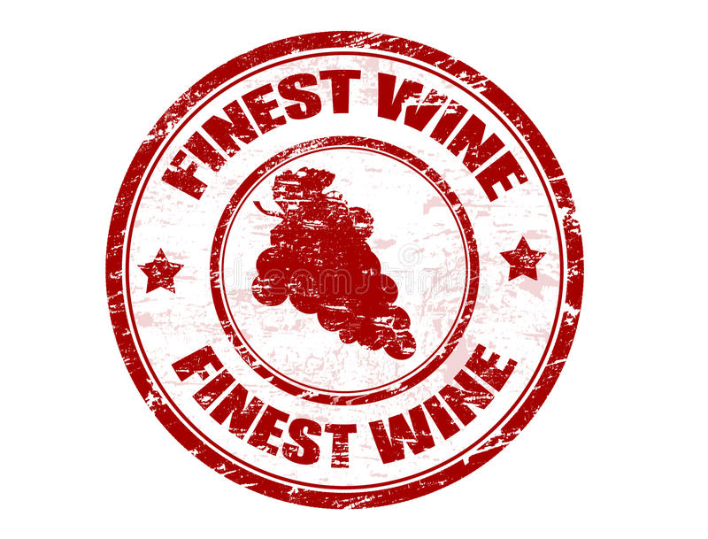 Selo do vinho o mais fino ilustração royalty free