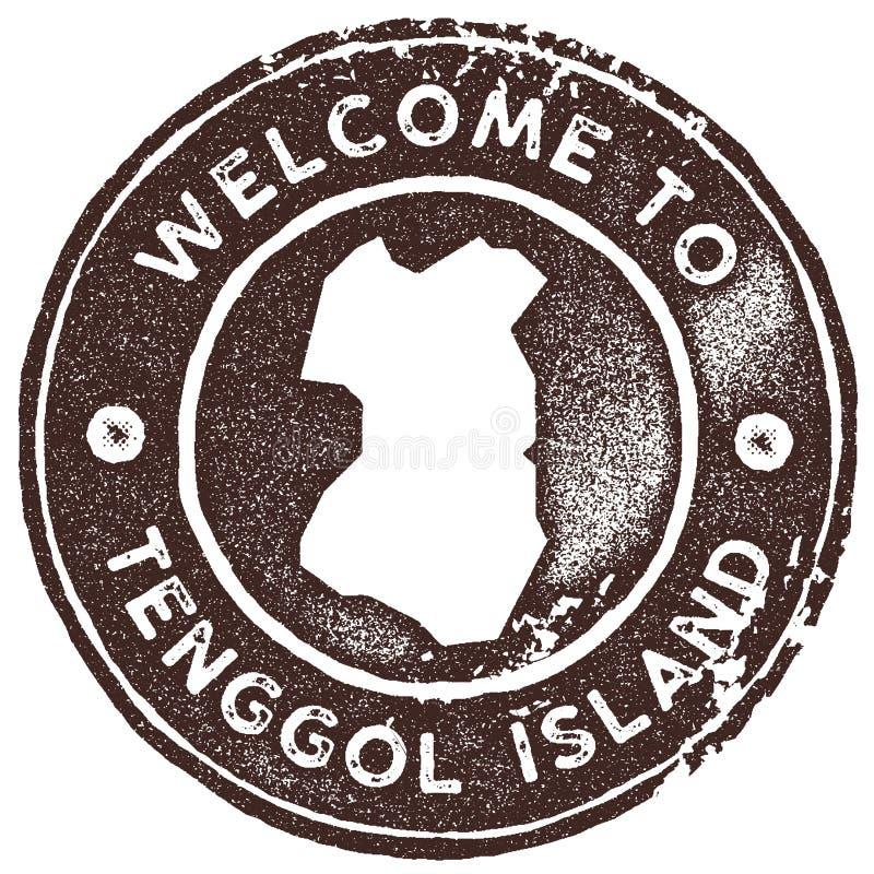Selo do vintage do mapa da ilha de Tenggol imagem de stock royalty free