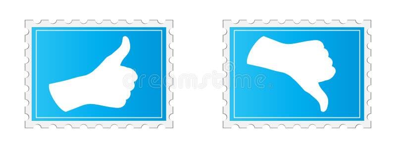 Selo do voto sim e No. ilustração stock