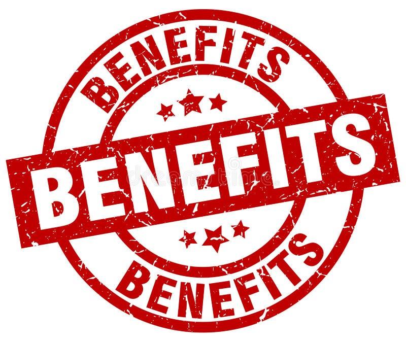 Selo dos benefícios ilustração royalty free