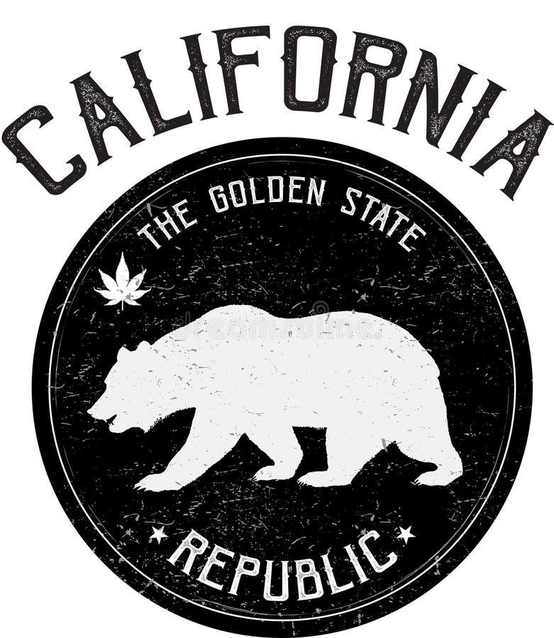 Selo dos Estados da Califórnia ilustração royalty free