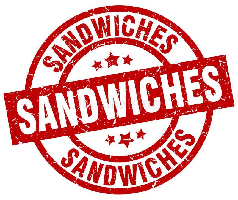 Selo dos sanduíches ilustração do vetor