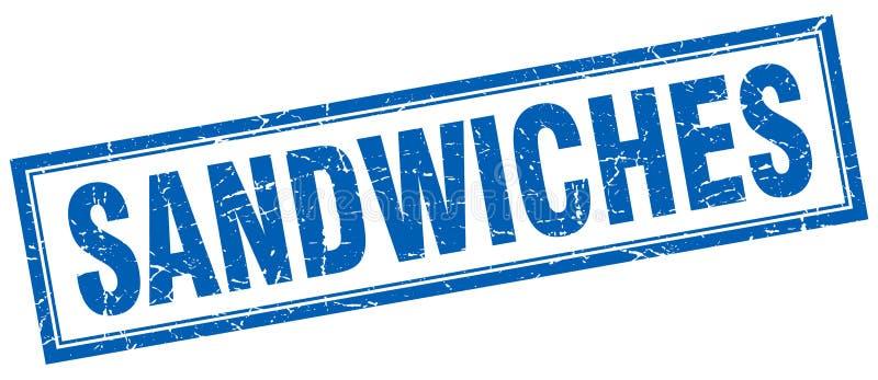 Selo dos sanduíches ilustração stock
