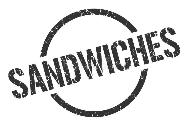 Selo dos sanduíches ilustração royalty free