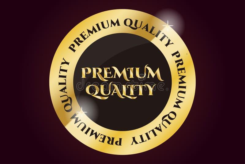 Selo dourado da qualidade superior ilustração stock