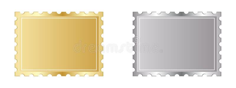 Selo dourado e de prata ilustração royalty free