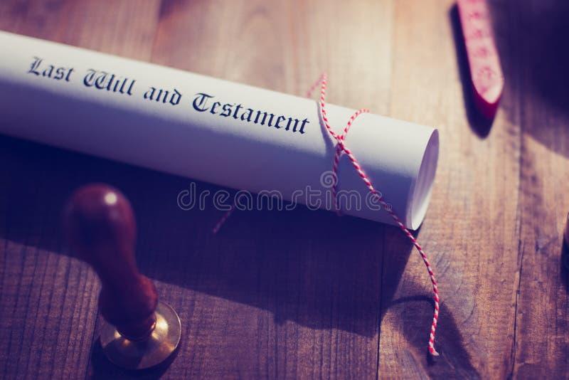 Selo e testamento da cera do notário fotografia de stock