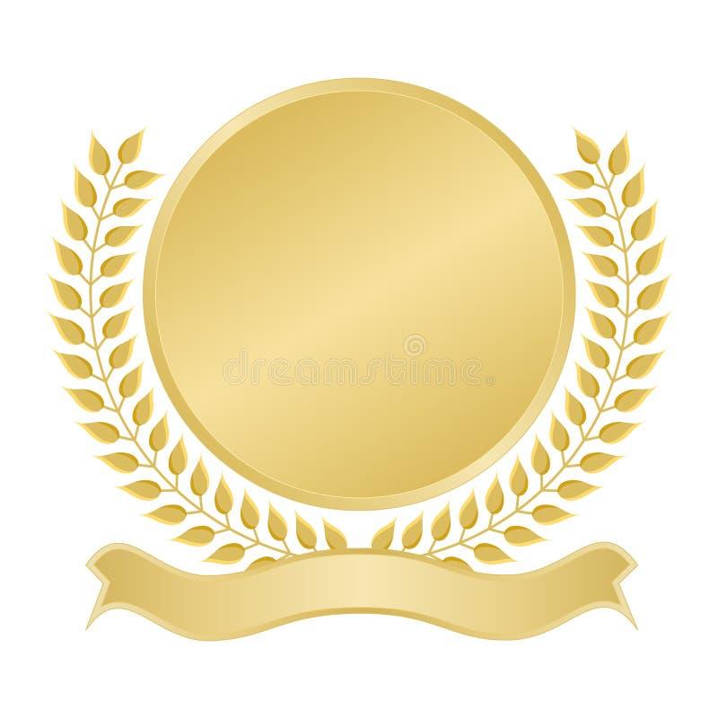 Selo em branco do ouro ilustração royalty free