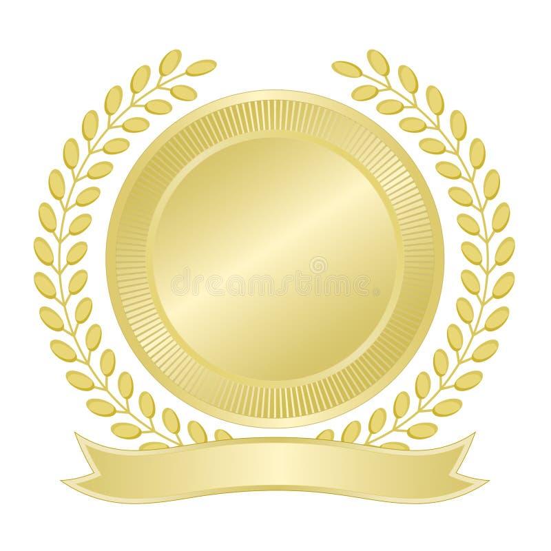 Selo em branco do ouro ilustração stock