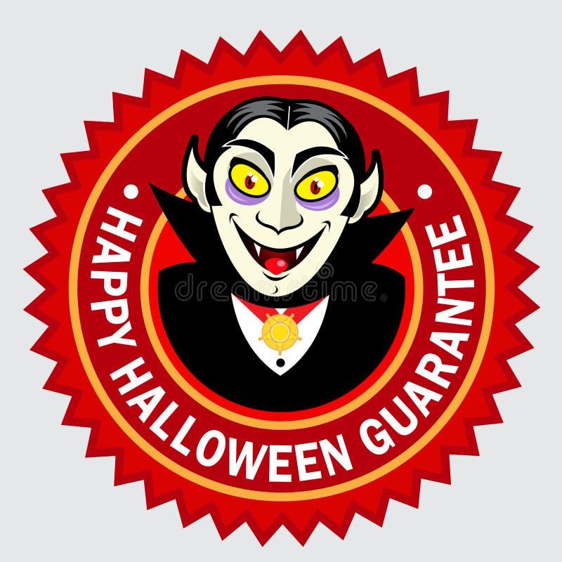 Selo/etiqueta felizes da garantia de Halloween ilustração stock