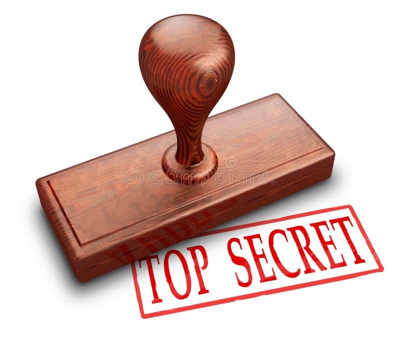 Selo extremamente secreto ilustração do vetor