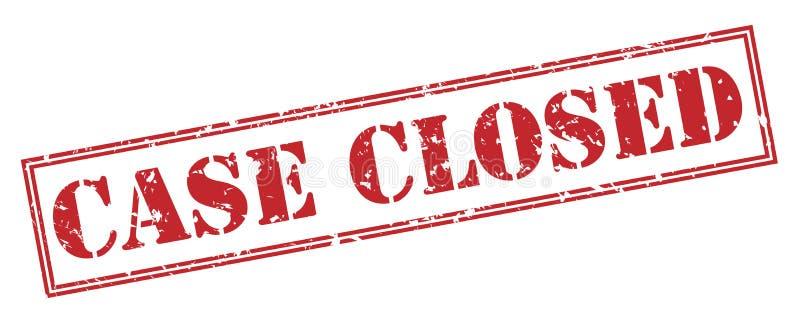 Selo fechado do caso no fundo branco ilustração do vetor