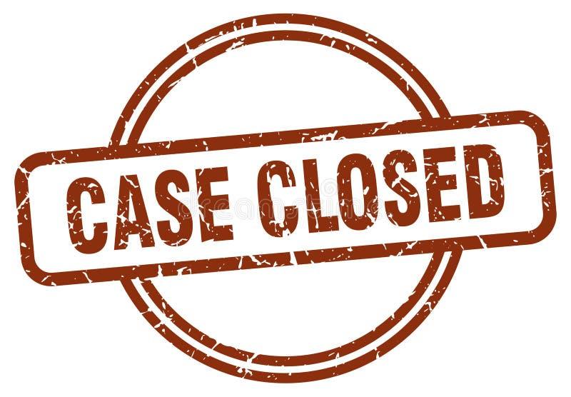 Selo fechado do caso ilustração stock