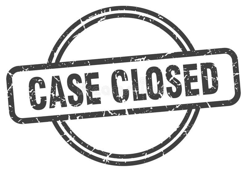 Selo fechado do caso ilustração do vetor