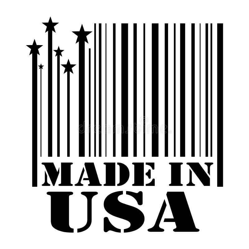 Selo feito nos EUA ilustração do vetor