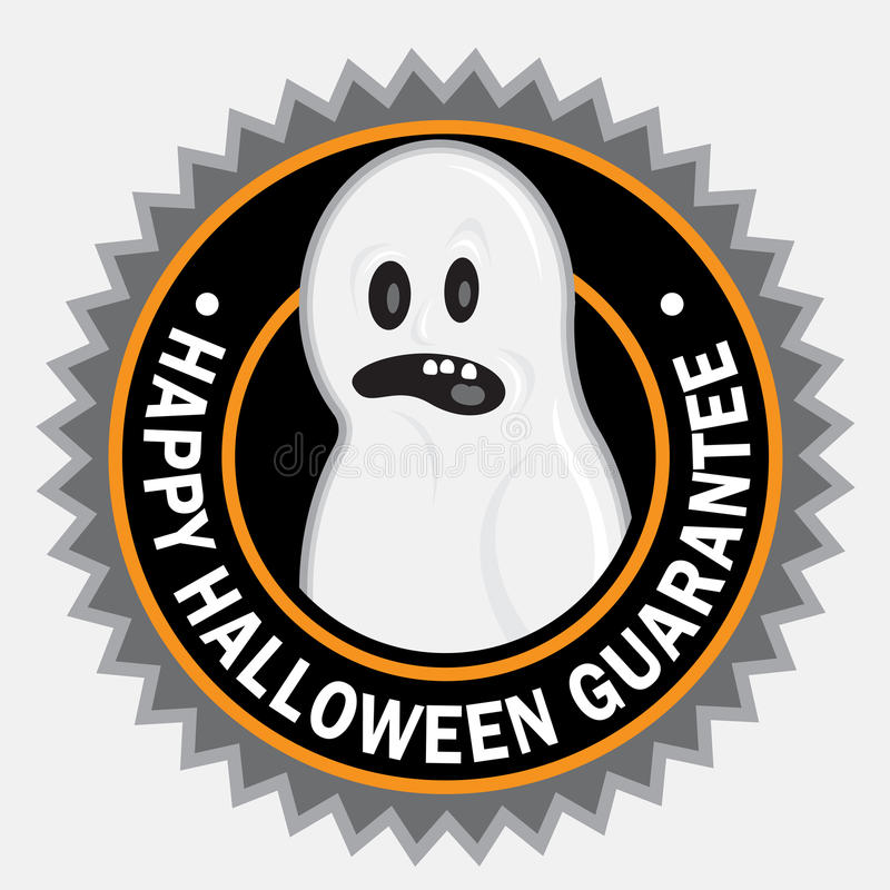 Selo feliz de Halloween ilustração do vetor