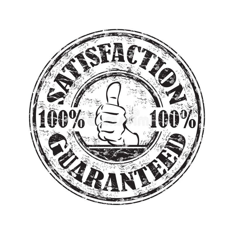 Selo garantido satisfação ilustração royalty free