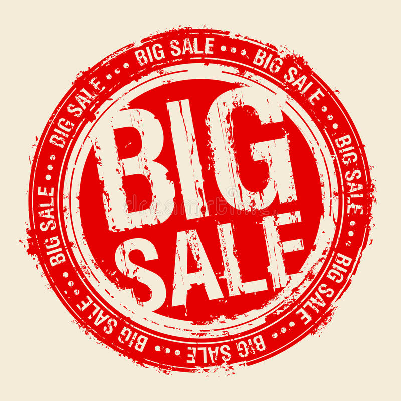 Selo grande da venda. ilustração royalty free