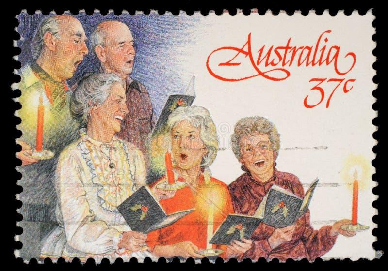 Selo impresso por Austrália, coro da igreja das mostras fotos de stock royalty free