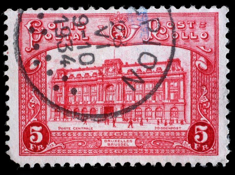 Selo impresso por Bélgica, mostras Bruxelas imagem de stock royalty free