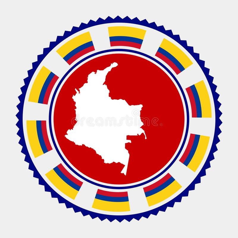 Selo liso de Colômbia ilustração do vetor