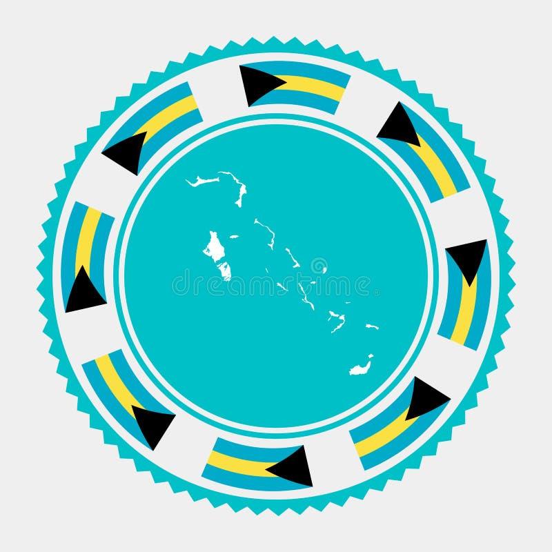 Selo liso do Bahamas ilustração royalty free