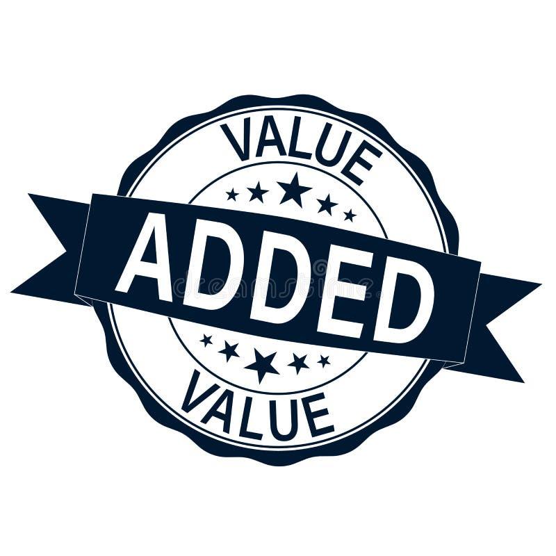 Selo moderno da Web redonda de valor acrescentado com as estrelas no fundo branco ilustração royalty free