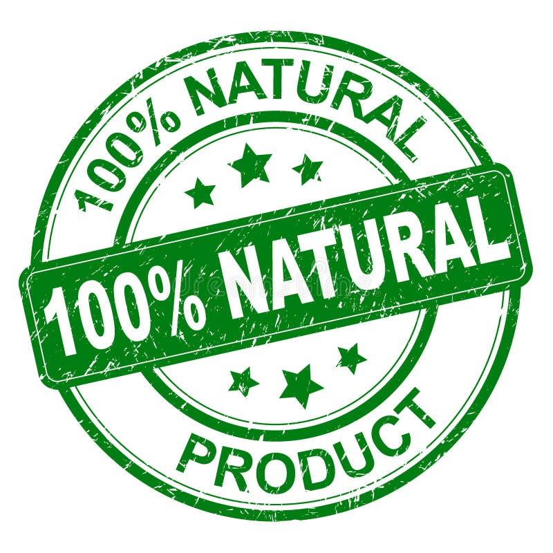 selo natural de 100% ilustração stock