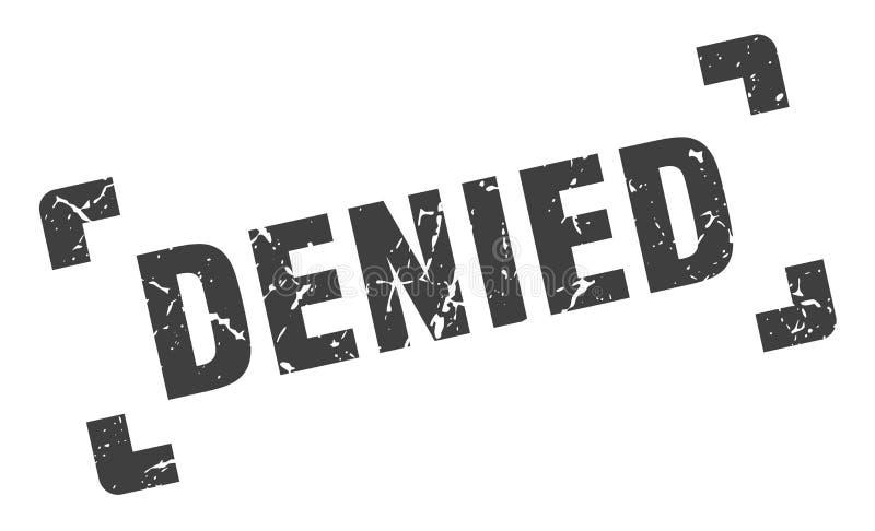 Selo negado ilustração do vetor