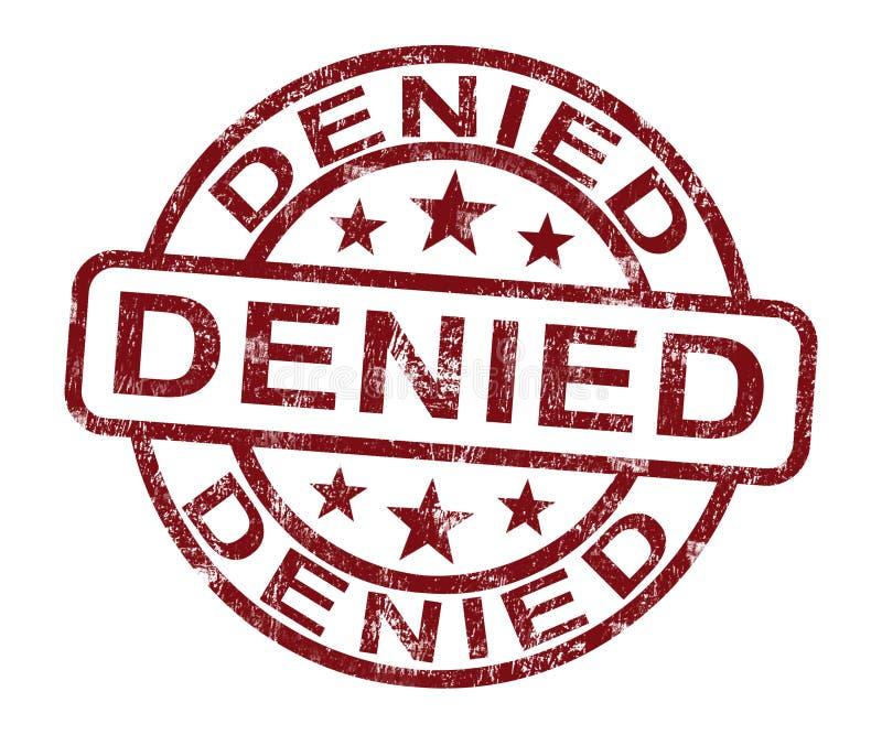 Selo negado que mostra a rejeção ou a recusa ilustração do vetor