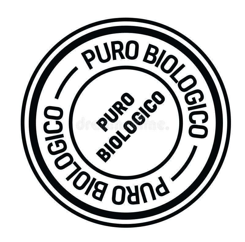 Selo orgânico puro no italiano ilustração royalty free