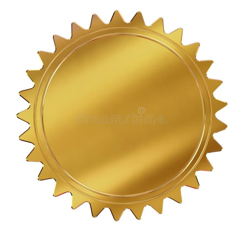 Selo ou medalha do ouro ilustração stock