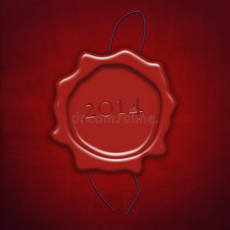 Selo ou selo vermelho da cera imagens de stock