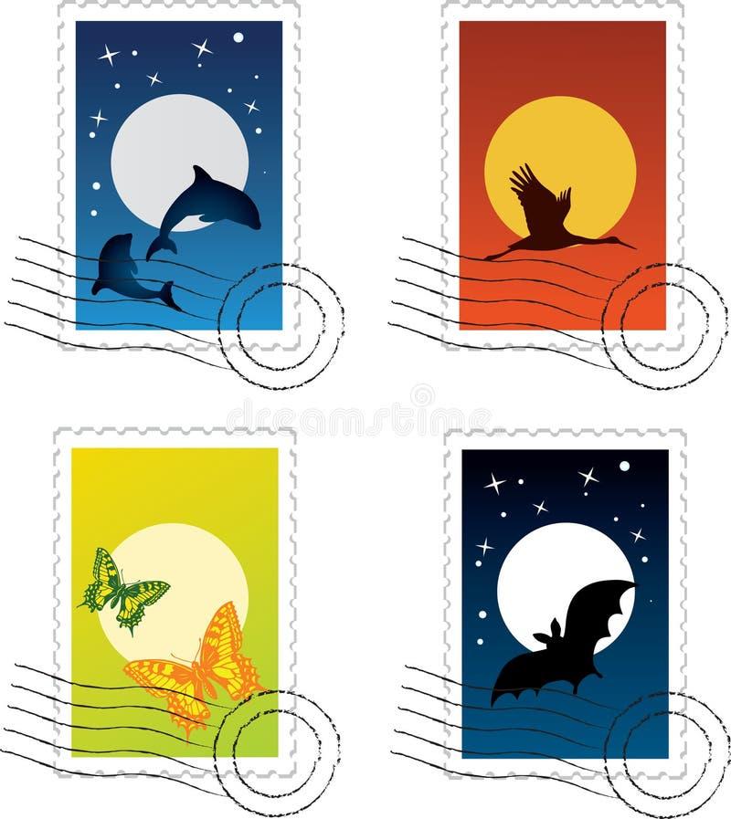 Selo postal ilustração royalty free