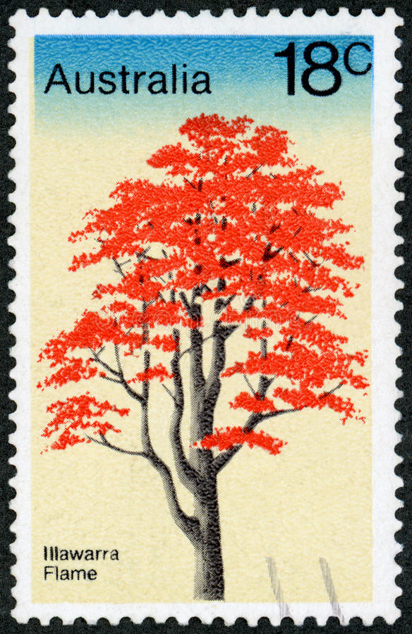 Selo postal - Austrália fotos de stock