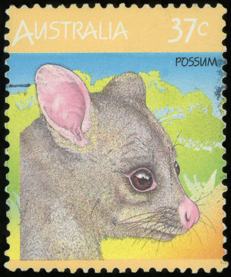 Selo postal australiano fotos de stock