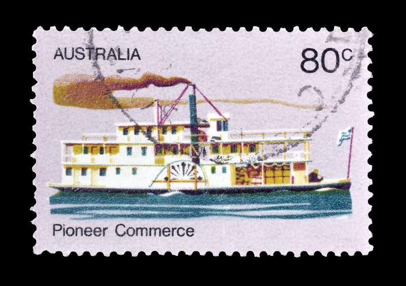 Selo postal cancelado impresso por Austrália fotografia de stock