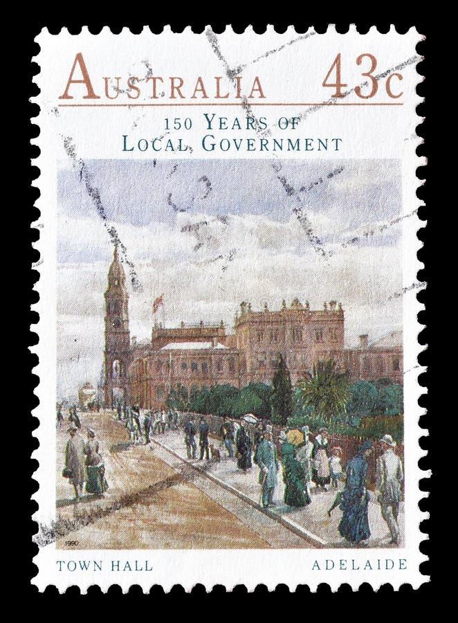 Selo postal cancelado impresso por Austr?lia imagem de stock royalty free
