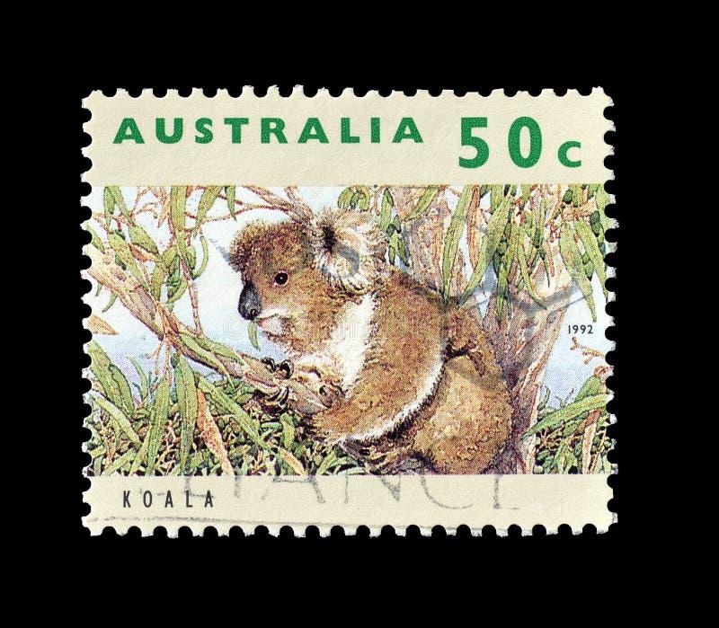 Selo postal cancelado impresso por Austr?lia fotografia de stock royalty free