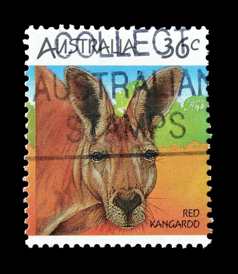 Selo postal cancelado impresso por Austr?lia foto de stock royalty free